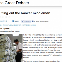 Reuters: Cutting Out the Banker Middleman