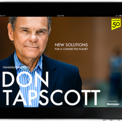 After 14 Books, Don Tapscott's New Book is Not a Book – It's an App