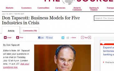 Don-Tapscott-Five-Models-for-Five-Industries-in-Crisis