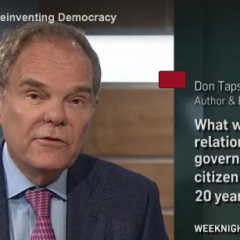 Reinventing Democracy on TVO's The Agenda
