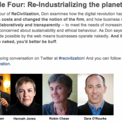 Episode Four on ReCivilization: ReIndustrializing the Planet