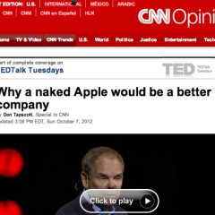 New Op-Ed on CNN: Why a Naked Apple Would be a Better Company