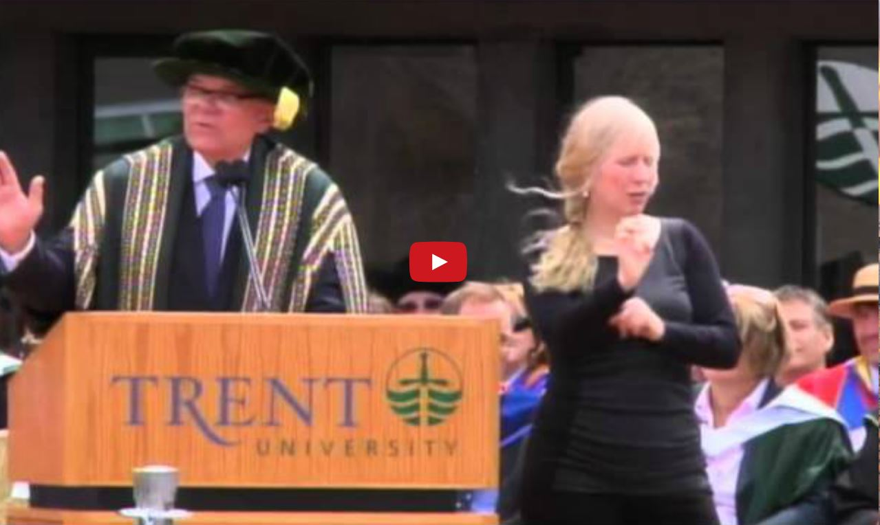 Trent University Convocation Speech