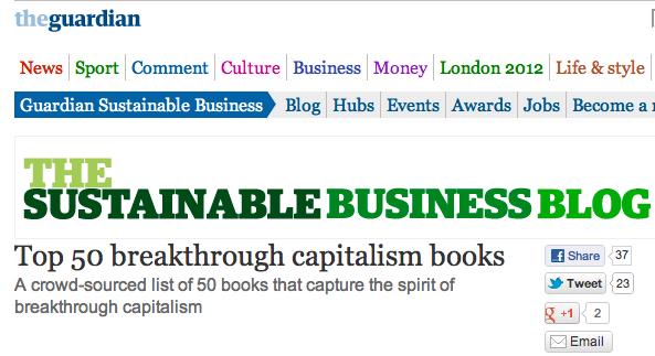 Macrowikinomics on Guardian's Top 50 Breakthrough Capitalism Books